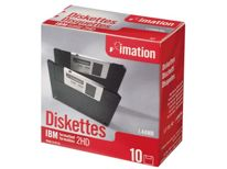 "Dyskietka  3,5""/ 1.44 MB/ 2-HD - format. IBM, czarna, paper box, 10-pack - Imation"