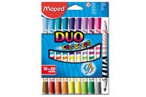 Flamastry dwustronne Maped Duo Color'Peps 10 szt.